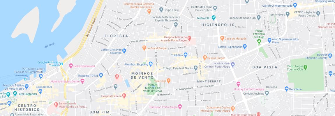 Mapa de localização da Agromoney